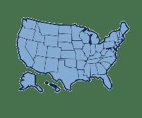 Location Heat Map - United States